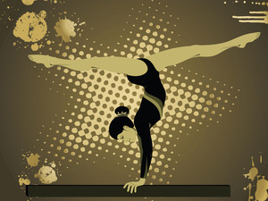 Gymnastic Silhouette Illustration