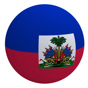 Haiti On The Ball Isolated On White.