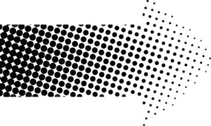 Halftone Arrow