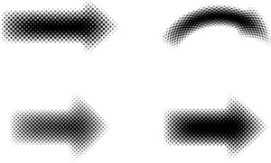 Halftone Arrows Set