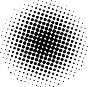 Halftone Circle Design
