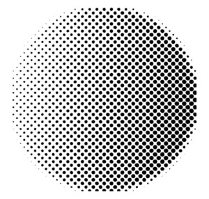 Halftone Circle Design
