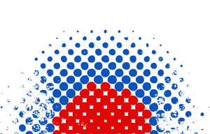 Halftone Design Usa Independence Day Vector Theme Design
