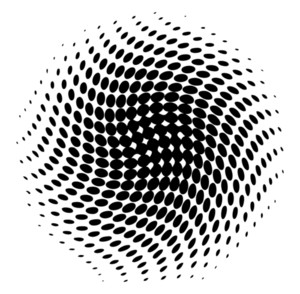 Halftone Effect Circle Banner