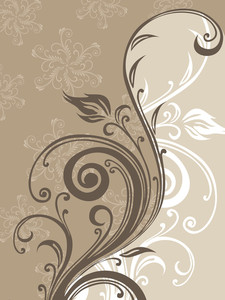 Halftone Filigree Pattern Background