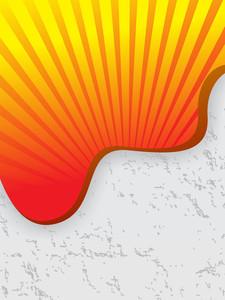 Halftone Grunge Sunburst Background