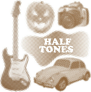Halftone Objects Set