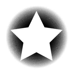Halftone Star Banner