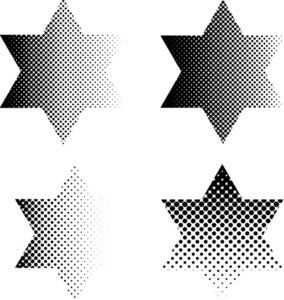 Halftone Stars Set