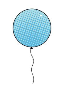 Halftone Texture Balloon