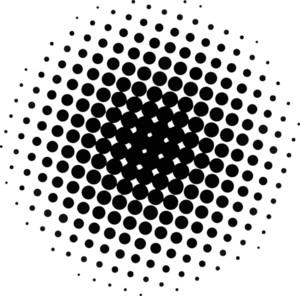 Halftone Texture Circle
