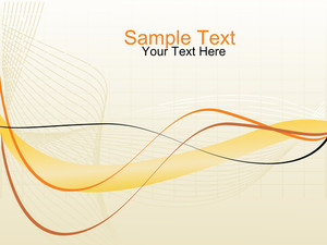 Halftone Wave Vector Banner And Sample Text