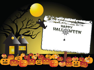 Halloween Background With Banner