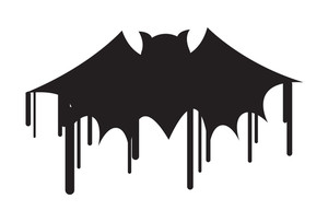 Halloween Bat Shape Painting