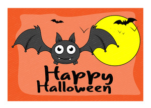 Halloween Bat Vector Graphic