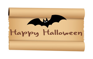 Halloween Bat With Parchment Paper Banner
