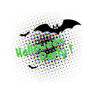Halloween Bats Graphic Background