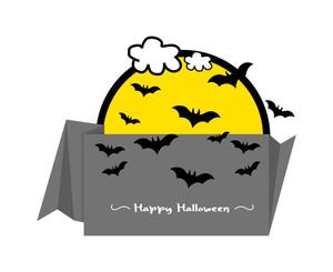 Halloween Bats Paper Banner