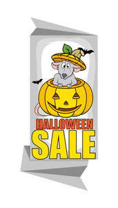 Halloween Cartoon Sale Banner