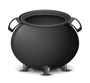 Halloween Cauldron Vector Illustration