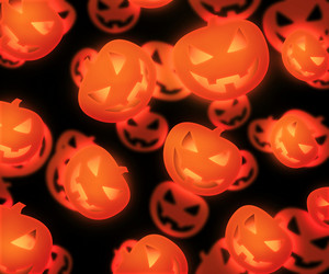 Halloween Evil Pumpkin Background