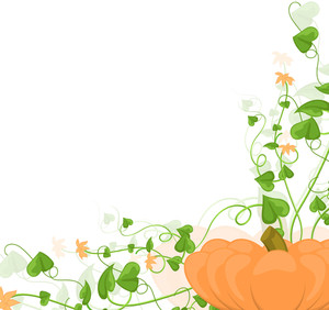 Halloween Flourish Pumpkin Background