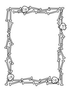 Halloween Frame Made From Bones