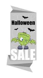 Halloween Frankenstein Character Sale Banner