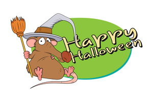 Halloween Funny Rat With With Hat