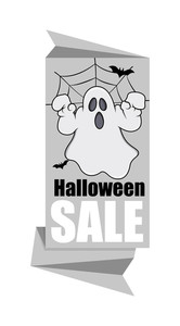 Halloween Ghost Sale Paper Banner