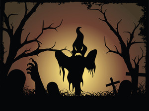 Halloween Graveyard Background
