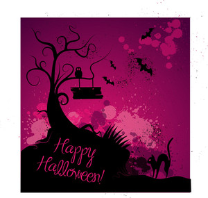 Halloween Grunge Vector Background