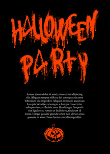 Halloween Poster Vector Template