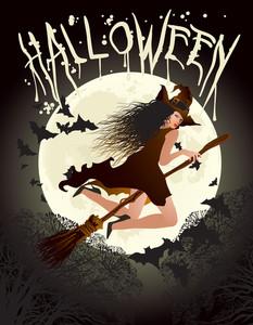 Halloween Poster. Vector.