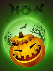 Halloween Pumpkin Smiling.