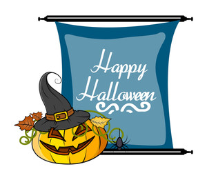 Halloween Pumpkin Vector Banner