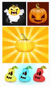 Halloween Pumpkins Vectors