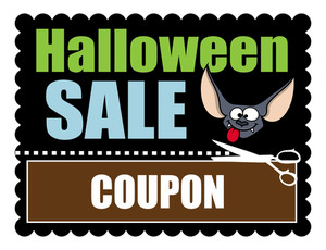 Halloween Sale Banner Discount Coupon