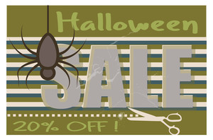 Halloween Sale Banner Vector