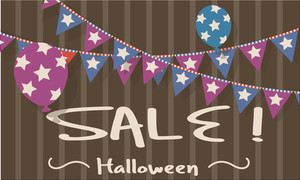 Halloween Sale Decorative Background