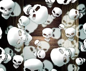 Halloween Skulls Background