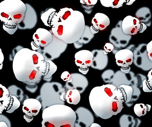 Halloween Skulls Dark Background
