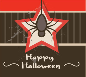 Halloween Spider Retro Background