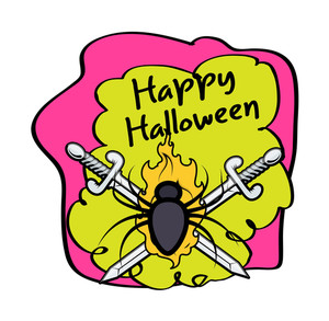 Halloween Spider With Swords
