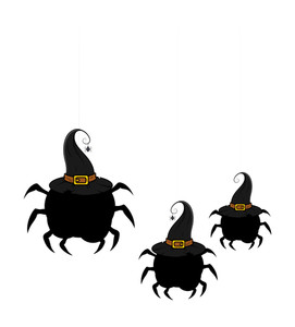 Halloween Spiders Shapes