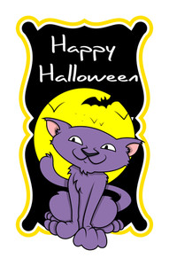 Halloween Spooky Cat Cartoon Graphic