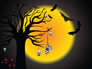 Halloween Tree And Hanging Skull