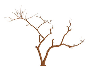 Halloween Tree Branches Vector