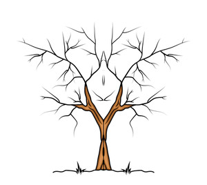 Halloween Tree Vector Design
