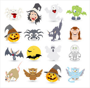 Halloween Vector Characters Icons And Illustrations